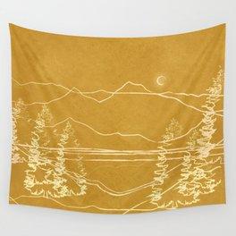 Minimalist Landscape Line Art I Wall Tapestry