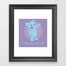Thread-bear Framed Art Print