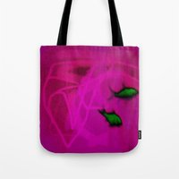 ships Tote Bags featuring FISH&SHIPS by lucborell