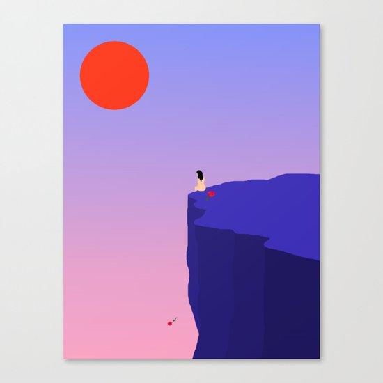 Cliff//Rose Canvas Print
