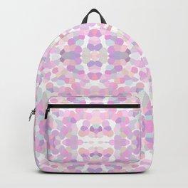 Pink lavender geometric pattern Backpack