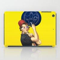 feminism iPad Cases featuring Whovian feminism by ElinJ