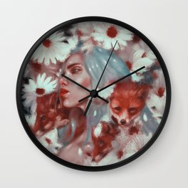 Fox spirit Wall Clock