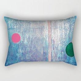 Metallic Face (Blue Version) Rectangular Pillow