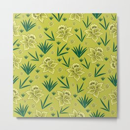 Floral background Metal Print