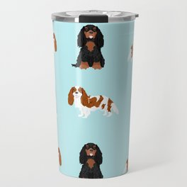 Cavalier King Charles Spaniel mixed coats dog breed must have cavalier spaniels gifts Travel Mug