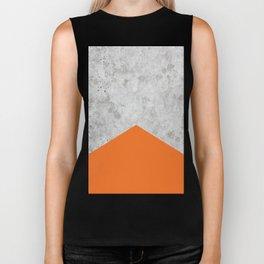 Concrete Arrow - Orange #118 Biker Tank