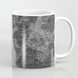 Black and White World Map (1901) Inverse 2 Coffee Mug