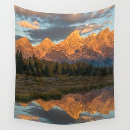 Sunrise On The Snake River Wall Tapestry