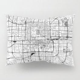 Beijing White Map Pillow Sham