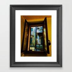 Window to the Rain Framed Art Print
