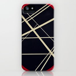 Crossrods - red graphic iPhone Case