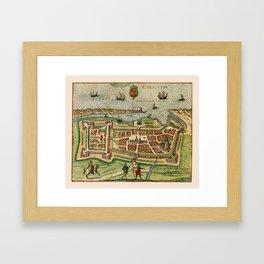 Map Of Calais 1649 Framed Art Print