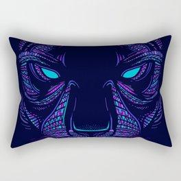 Aztec Panther Face Rectangular Pillow