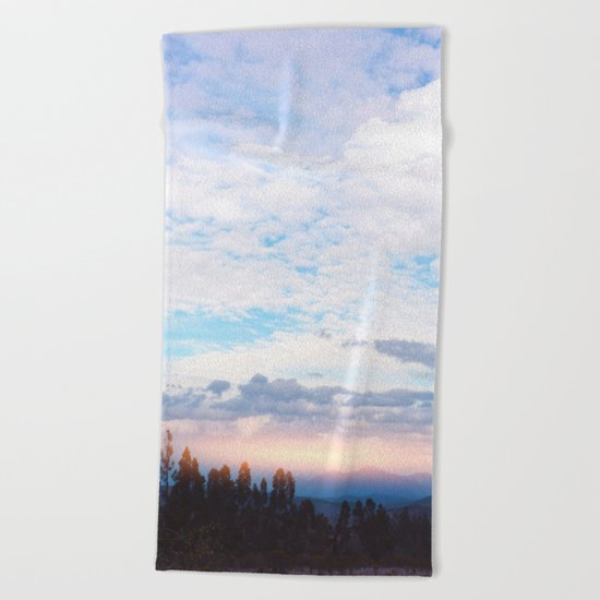 Landscape & Clouds Beach Towel