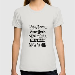 I Heart New York City Black and White New York Poster I Love NYC Design black-white home wall decor T-shirt