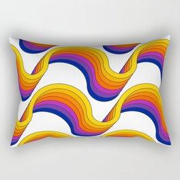 Rainbow Ribbons Rectangular Pillow