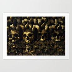 Skulls - Paris Catacombs Art Print
