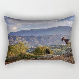 Goat View Rectangular Pillow