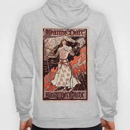 """Vintage French Poster for play """"Jeanne d'Arc"""" Hoody"""