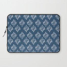 Simple Leafy pattern blue Laptop Sleeve