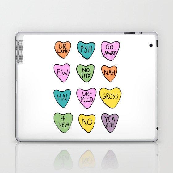 Anti Hearts Laptop & iPad Skin