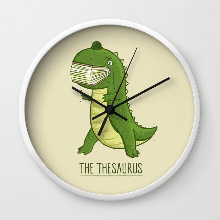 The Thesaurus Wall Clock by darel | Society6