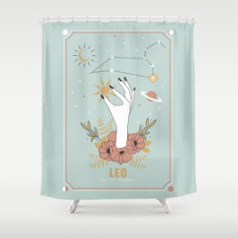 Leo Zodiac Series Shower Curtain