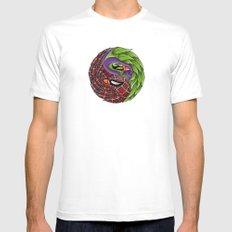 spider yin yang White Mens Fitted Tee MEDIUM