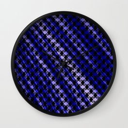 Blue Swirly Pattern with Creases Wall Clock