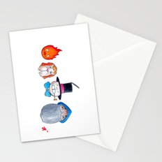 Make the Unlikeliest of Friends, Wherever You Go 3 Stationery Cards