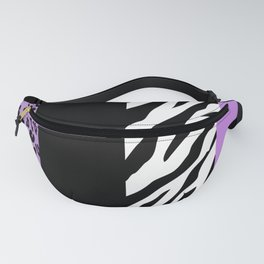 Animal Print, Zebra Stripes, Leopard Spots - Purple Fanny Pack