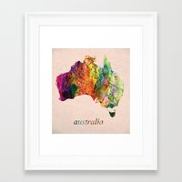 australia Framed Art Prints featuring Australia  by mark ashkenazi