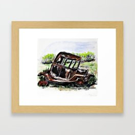 Wrecked And Rusting Framed Art Print