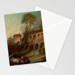 """François Boucher """"Imaginary Landscape with the Palatine Hill from Campo Vaccino"""" Stationery Cards"""