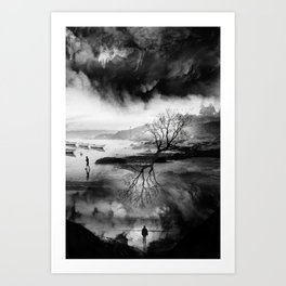 The Fisherman's son who wanted to be a mountaineer! Art Print