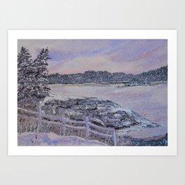 Winter Passion Art Print
