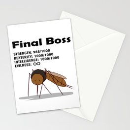 Final Boss - Black Letters Stationery Cards