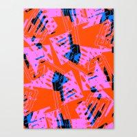 orange pattern Canvas Prints featuring Orange Pattern by Sarah Bagshaw