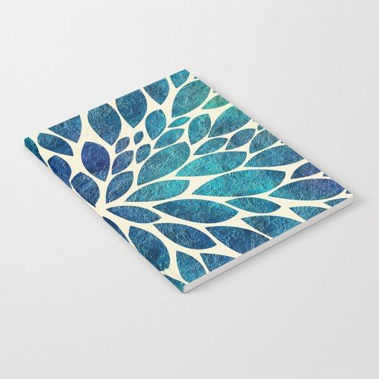 Petal Burst - Turquoise Notebook