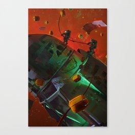 Pumpkin Space Canvas Print