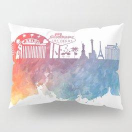 Las Vegas Nevada Skyline colored Pillow Sham