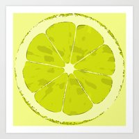 lime Art Prints featuring Lime by Avigur
