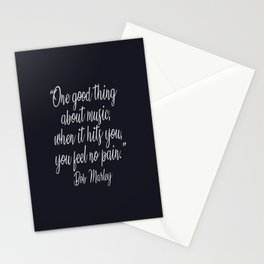 A beautiful music quote by B.Marley Stationery Cards