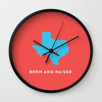 texas Wall Clocks featuring Texas by Hunter Ellenbarger