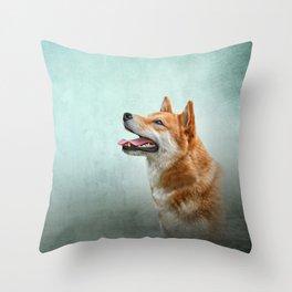 Drawing Japanese Shiba Inu dog 2 Throw Pillow