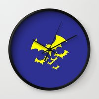 bat Wall Clocks featuring Bat by Spooky Dooky