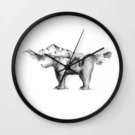 Mama and Baby Bear Wall Clock
