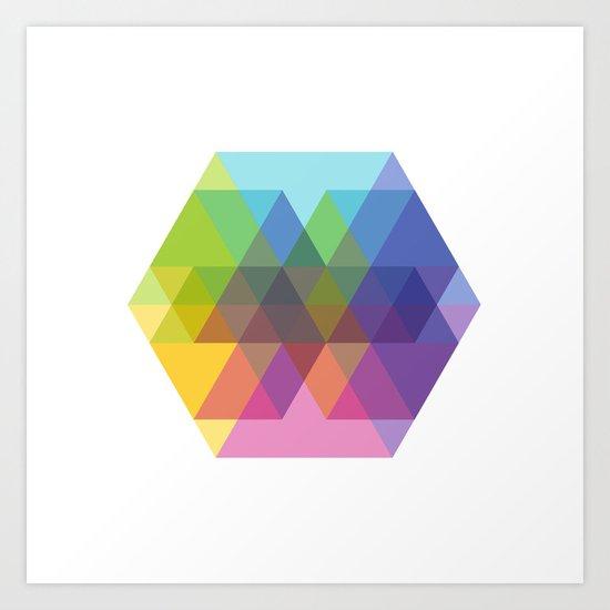 Fig. 040 Hexagon Shapes Art Print