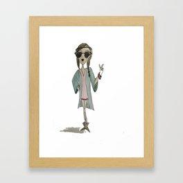 Hipster girl  Framed Art Print